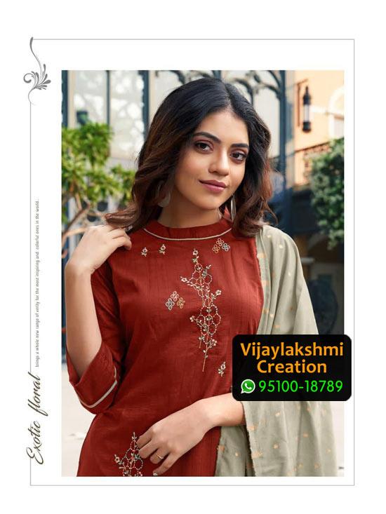 Ladies Flavour Aarohi Vol 3 Design No 1001 Chinon Lining