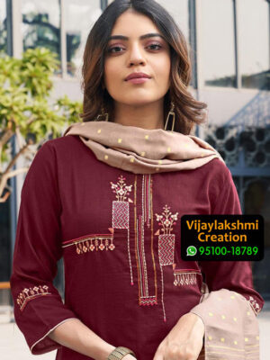 Ladies Flavour Aarohi Vol 3 Design No 1004 Chinon Lining