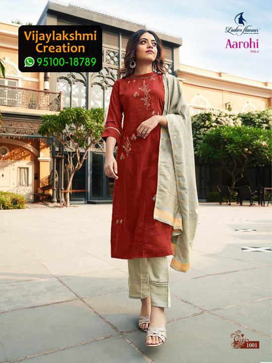 Ladies Flavour Aarohi Vol 3 Design No 1001 Chinon Lining in Single