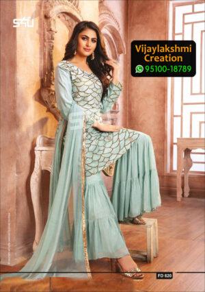 S4U Festive Diaries Vol 6 D No FD620 Fancy Fabric in Singles