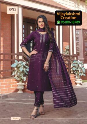 S4U Limelight Vol 4 Design No LL 402 Silk Kurti in Singles and Full Catalogue