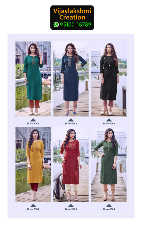 Koodee Mahi 3 Rayon Fancy Kurti in Singles and Full Catalogue