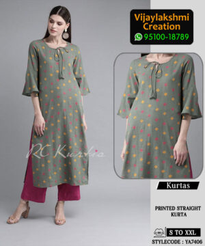 RC Kurtis YA7406 Printed Maxi Dress in Single and Full Catalogue