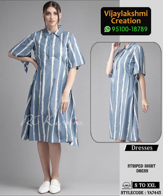 RC Kurtis YA7443 Printed Maxi Dress in Single and Full Catalogue