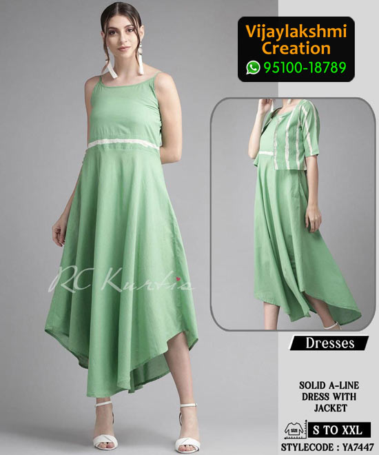 RC Kurtis YA7447 Printed Maxi Dress in Single and Full Catalogue