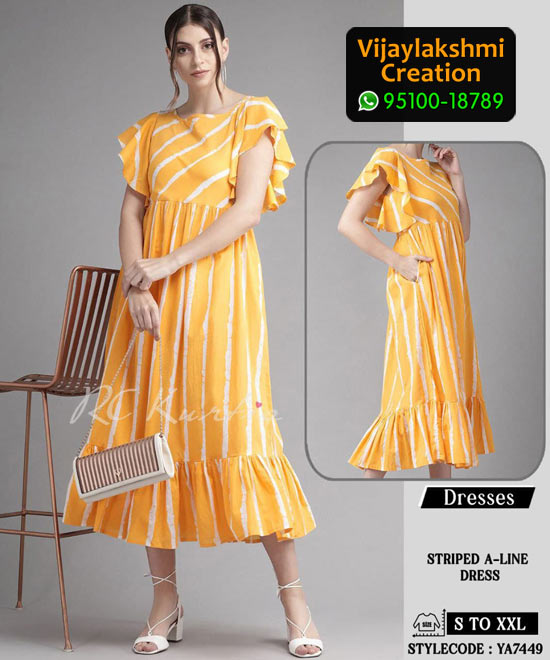 RC Kurtis YA7449 Printed Maxi Dress in Single and Full Catalogue