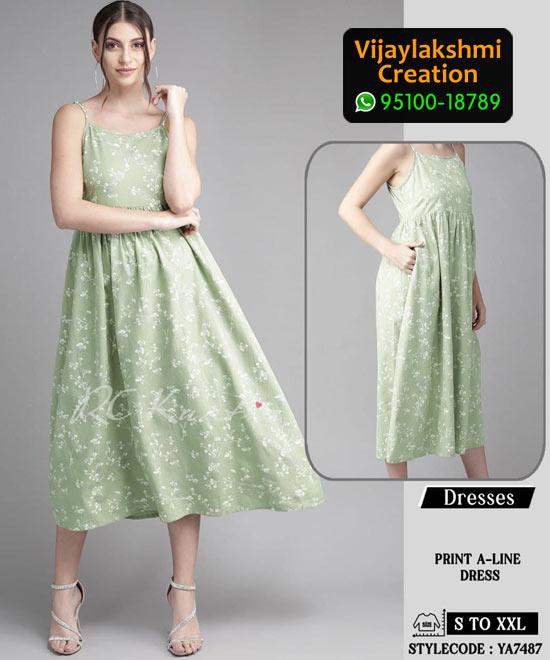 RC Kurtis YA7487 Printed Maxi Dress in Single and Full Catalogue