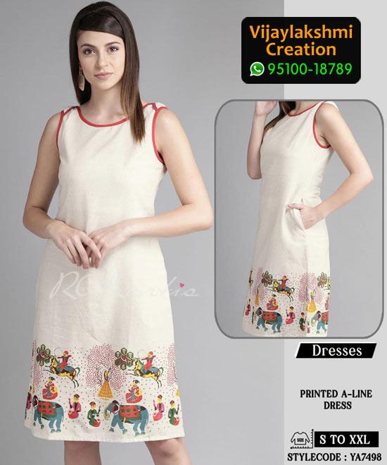 RC Kurtis YA7498 Printed Maxi Dress in Single and Full Catalogue