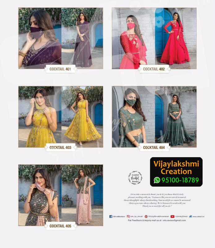 S4U CockTail Vol 4 Georgette Kurti in Single piece and Full Catalogue