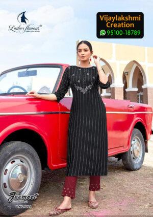Ladies Flavour 6004 Jasmeet Vol 2 Rayon Kurti in Single Piece