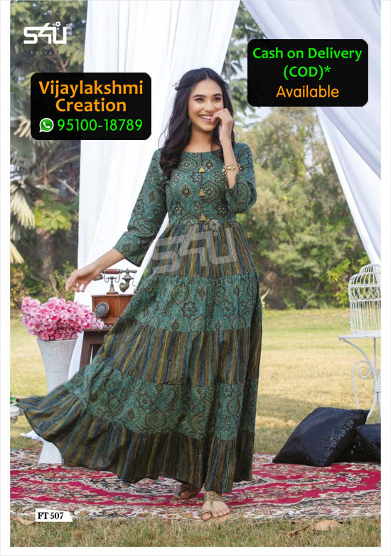 S4U FT 507 Flairy Tales Vol 5 Cotton Kurti in Single Piece