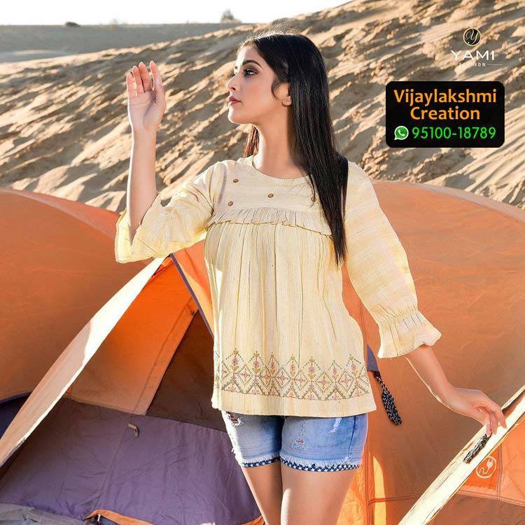 Yami 5177 Fashion Rayon Base fancy Kurti in Single Piece
