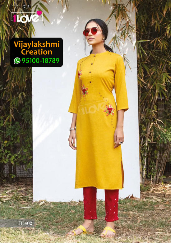 1Love IC 402 Rayon Kurti in Single Piece, Catalog name S4U Indi Chic Vol 4