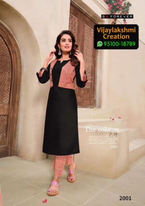 S3 Forever 2001 Cotton Kurti in Single Piece, Catalog Name Hello Summer