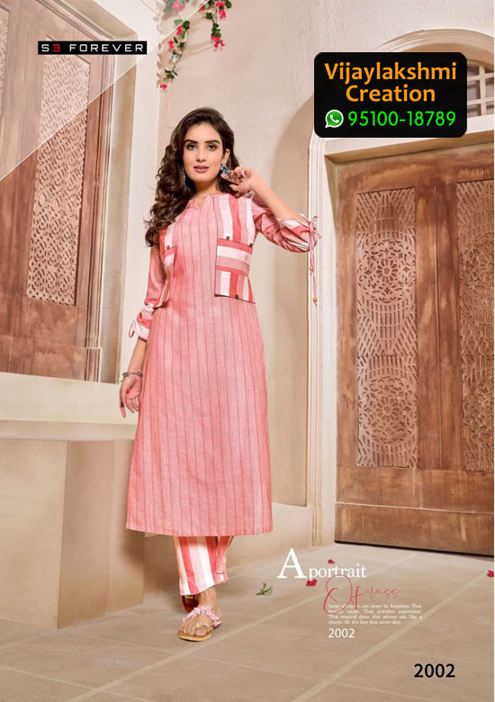 S3 Forever 2002 Cotton Kurti in Single Piece, Catalog Name Hello Summer