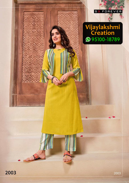 S3 Forever 2003 Cotton Kurti in Single Piece, Catalog Name Hello Summer