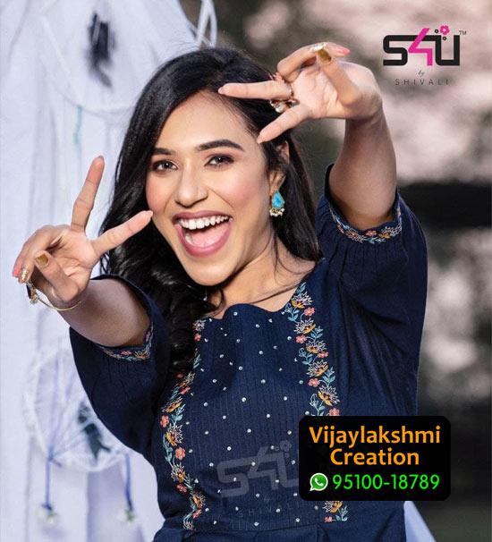 S4U 1Love We Desi Rayon / Cotton Summery Tunic Kurti in Single Piece