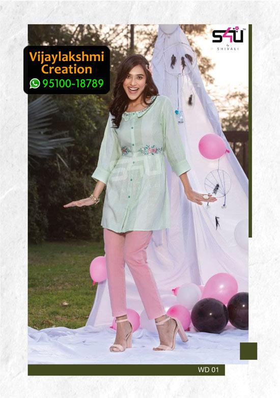S4U WD 01 Rayon / Cotton Summery Tunic Kurti in Single Piece, Catalogue Name 1Love We Desi