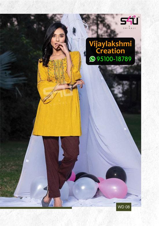 S4U WD 08 Rayon / Cotton Summery Tunic Kurti in Single Piece, Catalogue Name 1Love We Desi