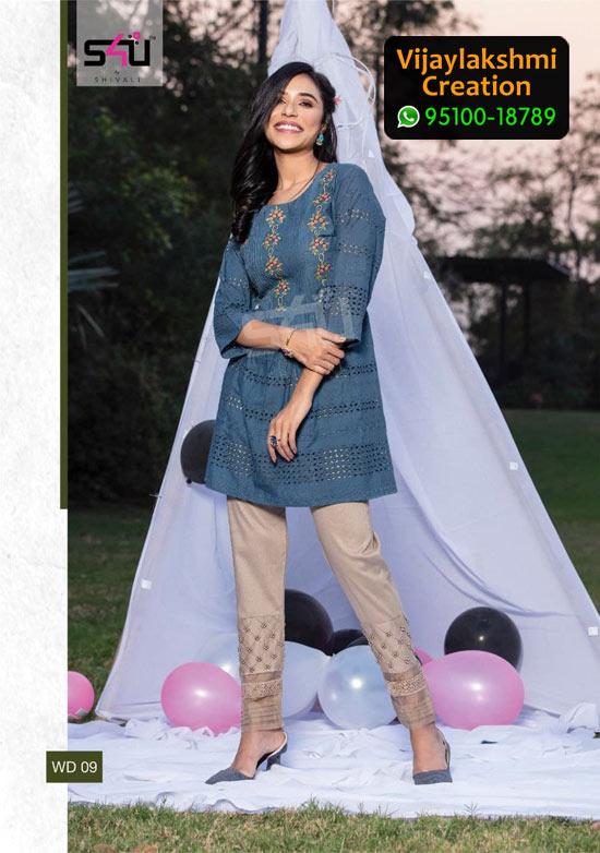 S4U WD 09 Rayon / Cotton Summery Tunic Kurti in Single Piece, Catalogue Name 1Love We Desi