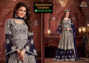 Shivali 104 Fancy Velvet Kurti with Embroidered in Single Piece, Catalogue Name Halime Sultan