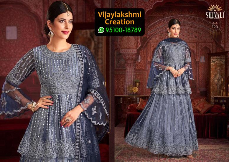 Shivali 105 Georgette Kurti in Single Piece, Catalog Name Urvashi Peplam