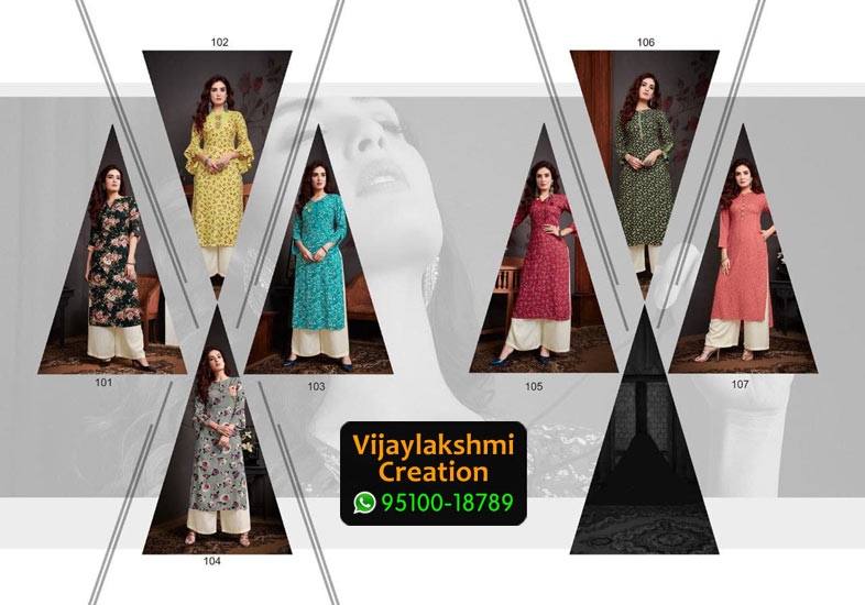 Vivils Silk Kaash Vol 3 Rayon Kurti