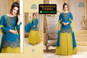 Shivali 1003 Georgette Kurti in Single Piece, Catalogue Name Anamika Vol 2