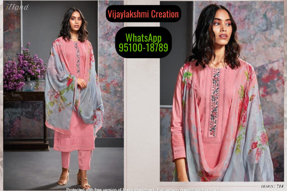 Buy Pure Cotton Soft Cotton Cambric Cotton Sahiba Itrana Suit in Singles and Full Catalogue