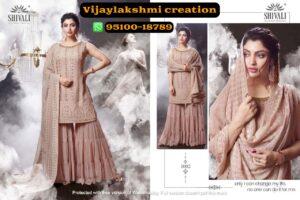 Shivali 1002 Beautiful Luckhnwani Handcrafted Kurti With Sharara In Singles And Full Catalog-Nooraniyat