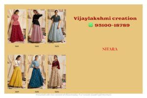 nitara sparkles vol 6 top skirt collection