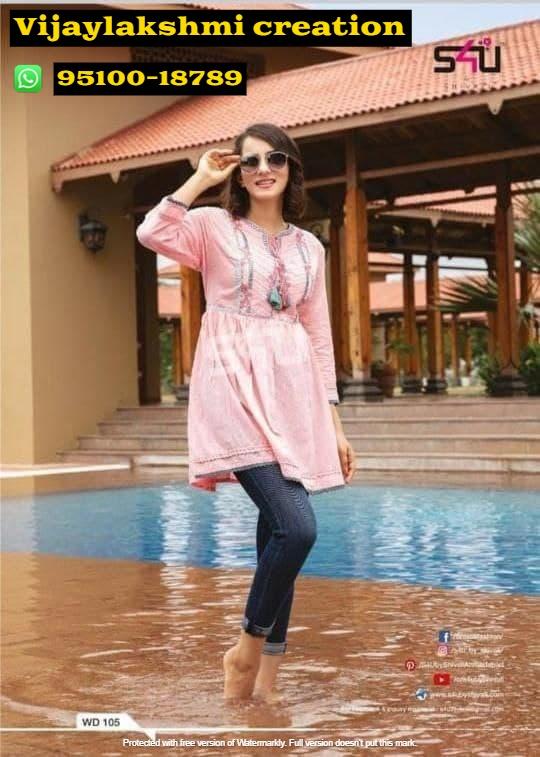 s4u we desi WD 105 Pink tunic