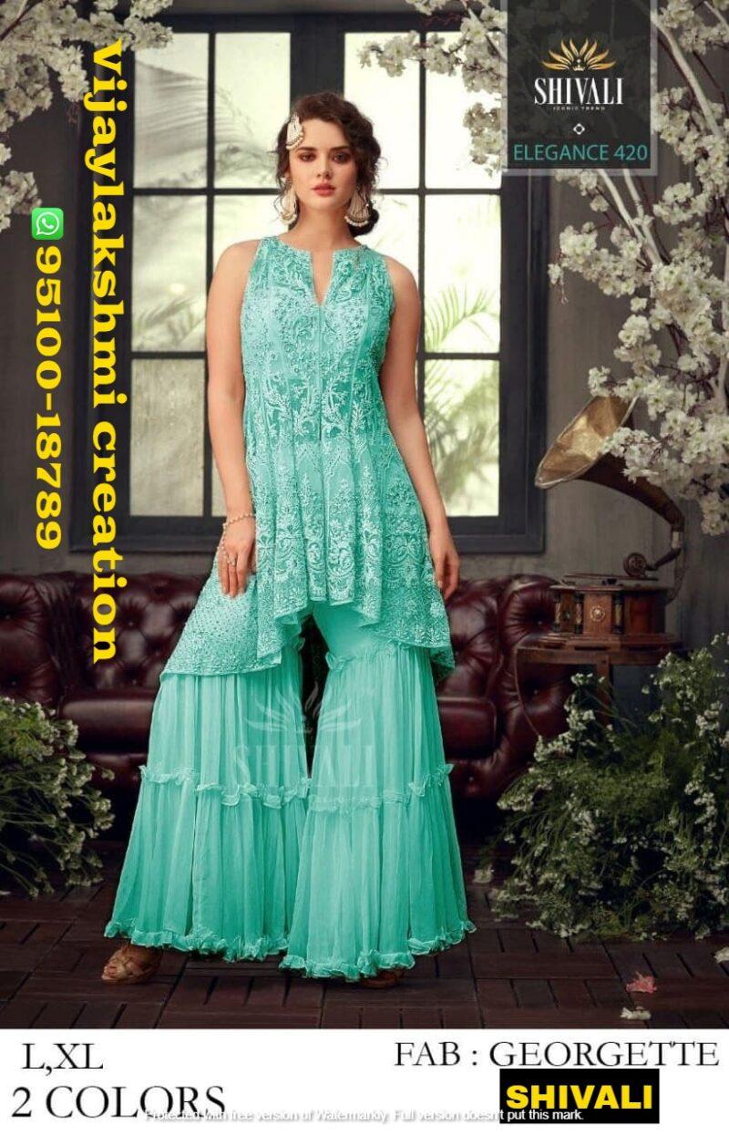 Shivali Elegance 420 Georgette top with bottom
