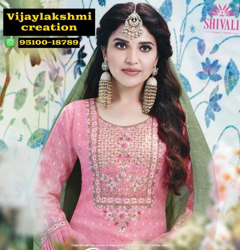 shivali kiara vol 4 kiara 1001 pink kurti with bottom