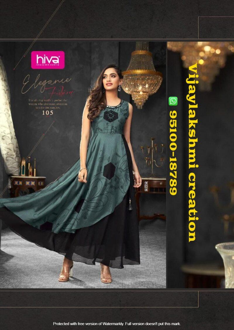 hiva flow 8 105 long gown