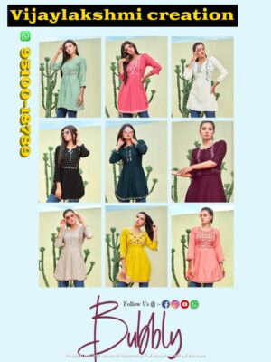 tips and tops bubbly short tops with embroidery full collection and in singles