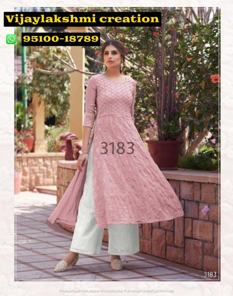 Maisha Maskeen 3183 lucknowi designer kurti with bottom