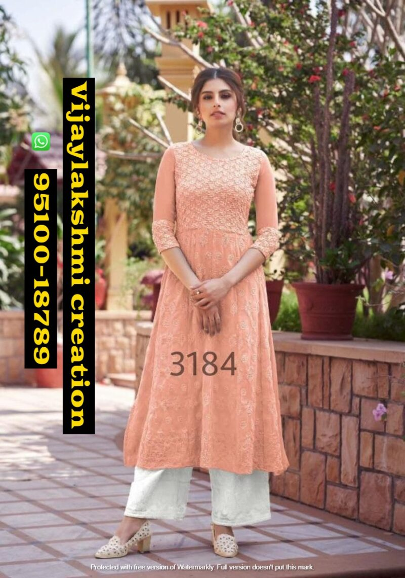 Maisha Maskeen 3184 lucknowi designer kurti with bottom