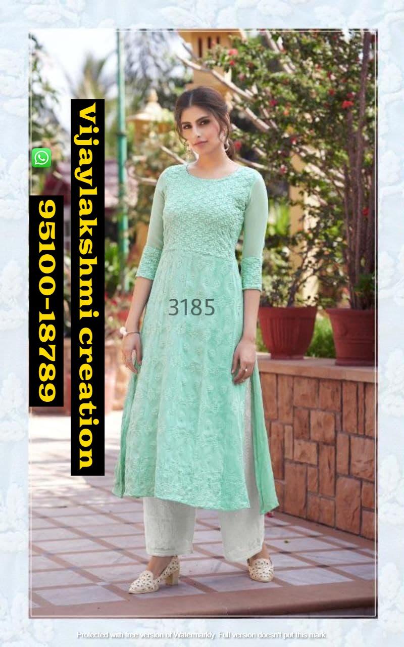 Maisha Maskeen 3185 lucknowi designer kurti with bottom