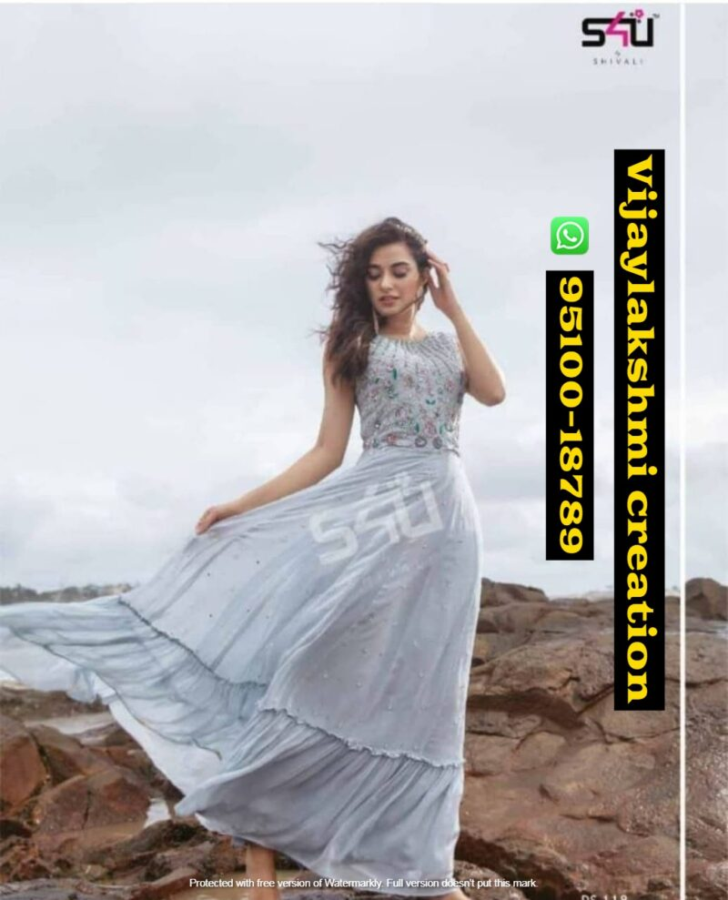 s4u fd vlc special white long gown