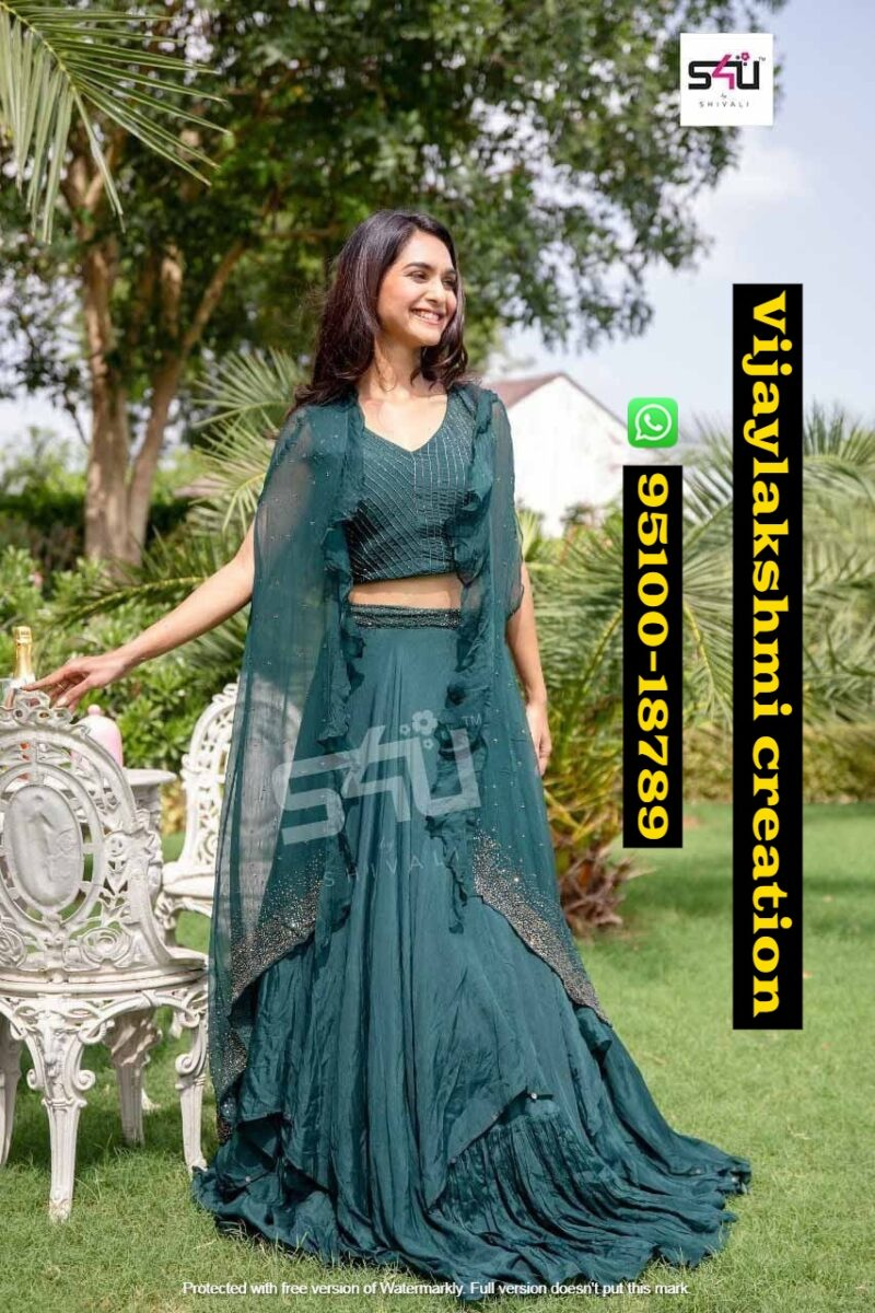 s4u fd vlc special teal indo western collection